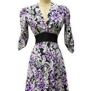 Trashy Diva Rosalind Purple Floral Dress Size 12
